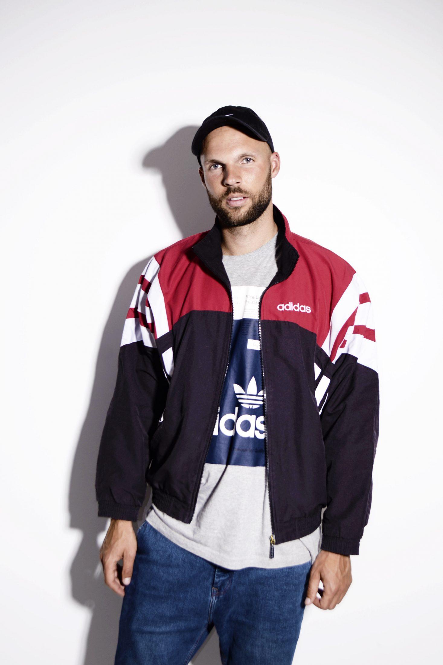 Vintage 90s Adidas Tracksuit top Windbreaker jacket color