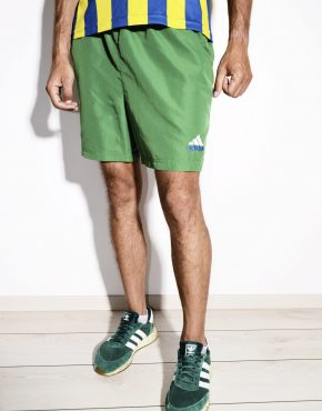 ADIDAS vintage green shorts for men