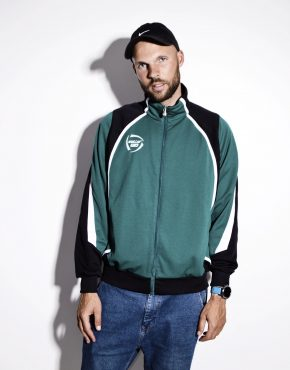 Old School track top green jacket