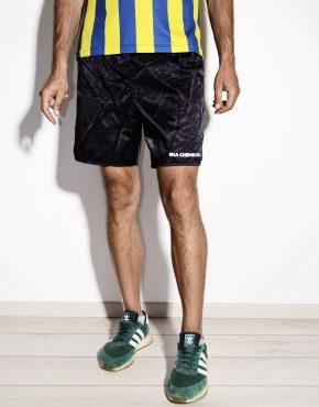 Vintage black nylon sport shorts for men