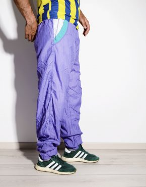 80s vintage mens purple nylon shell pants