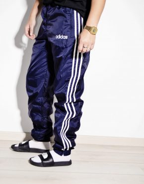 ADIDAS vintage festival wind pant in blue color