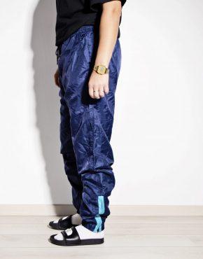 Vintage festival blue nylon shell pants unisex