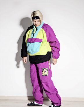 80s vintage winter warm ski suit women's