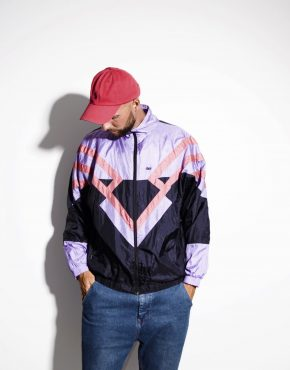 80s vintage multi colour crazy shell jacket