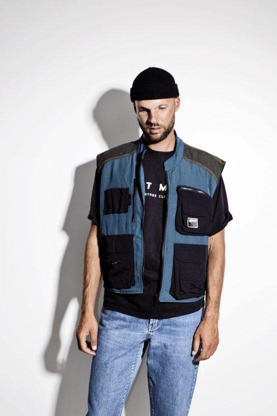 90s multi pocket utility shell vest