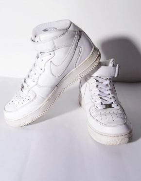 Nike Air Force Ones AF1 '82 high top white classic trainers