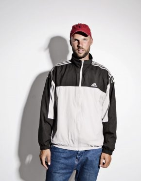 ADIDAS lightweight windbreaker men in grey