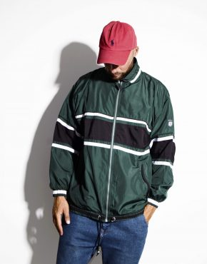 Vintage festival rave shell jacket green
