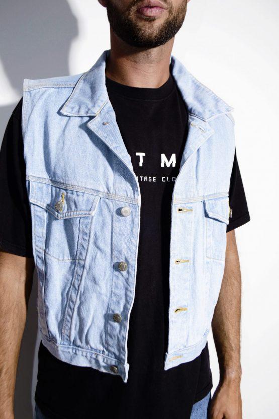 80s men's denim vest