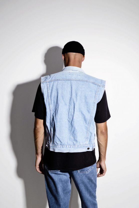 Vintage men retro denim vest