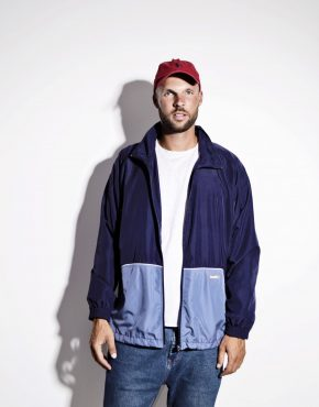 Lightweight blue shell jacket men