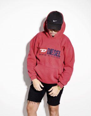 DIESEL warm hooded sweatshirt hoodie