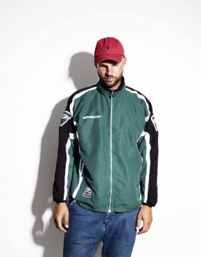 Track jacket men 2000s tracksuit wind top rave