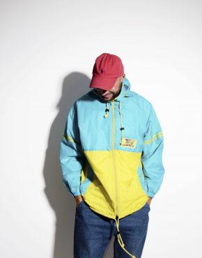 90's style vintage festival shell jacket rain coat