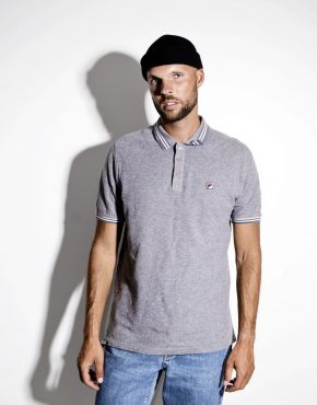 Fila vintage gray polo shirt men's