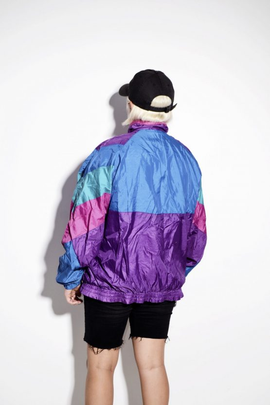 Vintage multi sport rave shell jacket unisex