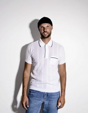 Retro 1960's TREVIRA 2000 white polo shirt men