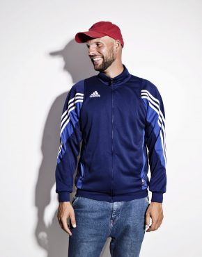 ADIDAS 90s sport jacket men blue colour