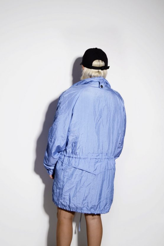 Vintage windbreaker long parka jacket for women