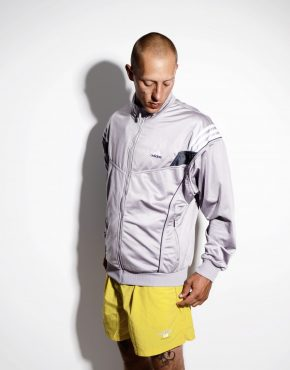 ADIDAS vintage silver jacket large