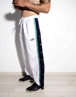 PUMA 90s snap pants white large