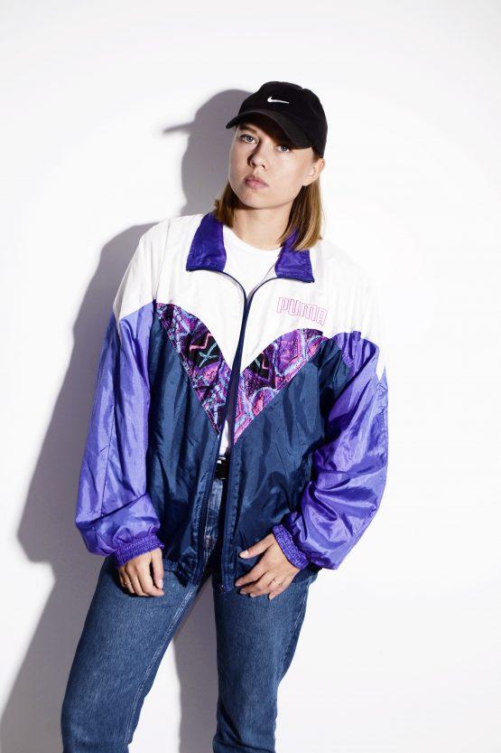 PUMA 90s vintage multi colour crazy shell jacket