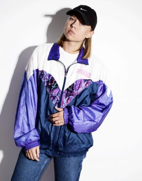 PUMA 90s vintage multi colour crazy shell jacket