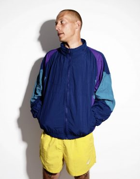 Retro oversized 90s jacket blue XL