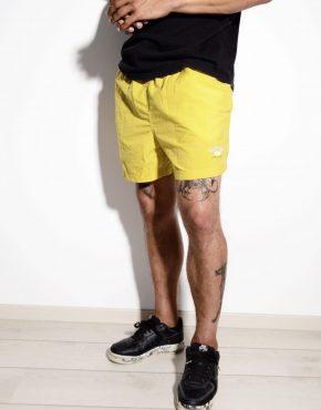 Vintage sports shorts yellow medium