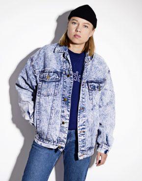 Unisex vintage denim jacket