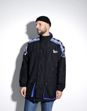 Vintage long windbreaker REEBOK shell jacket
