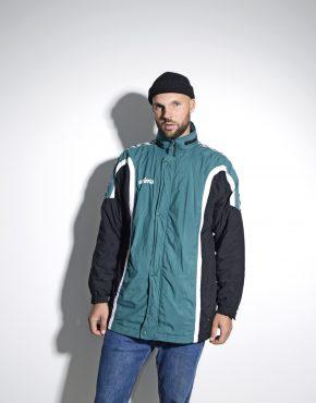 90s retro warm padded hooded long parka jacket