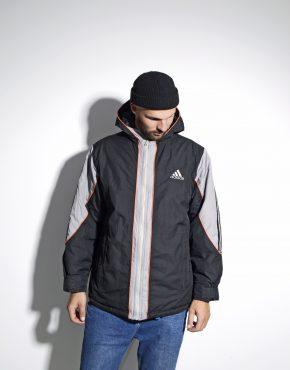 Adidas men warm hooded padded jacket