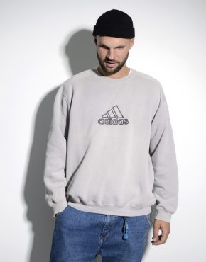 ADIDAS vintage sweatshirt grey mens