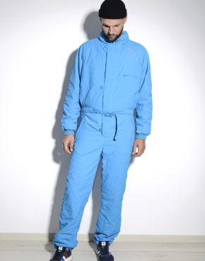 Vintage blue ski suit for men by Don Cano