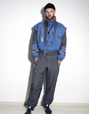 Vintage winter ski suit mens