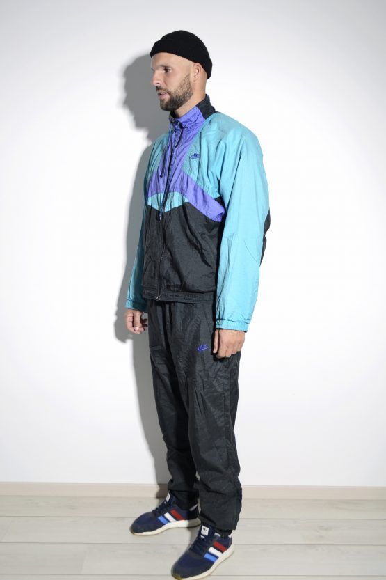 NIKE vintage tracksuit set in multi color block