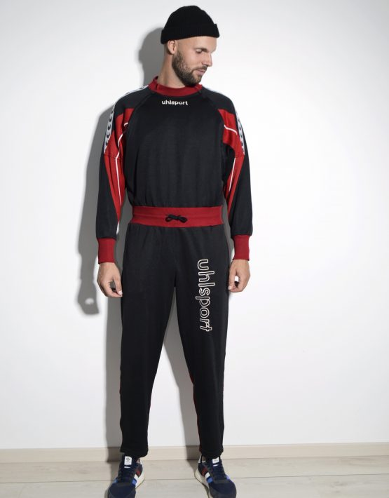 Retro 80s overall men sport jumpsuit