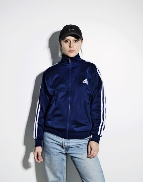 ADIDAS retro style track jacket in blue