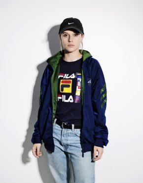 Vintage 90s ADIDAS blue green jacket