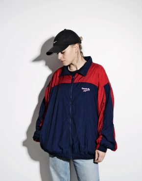 REEBOK 80s shell jacket unisex blue red L