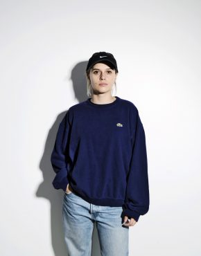 LACOSTE vintage sweatshirt blue unisex