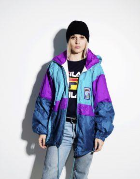 Retro lightweight windbreaker hooded jacket