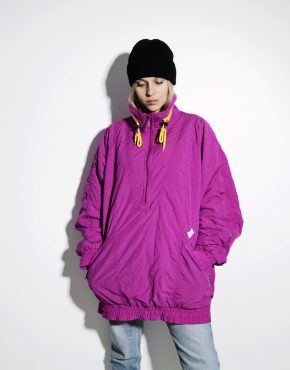 80s retro ski jacket warm parka