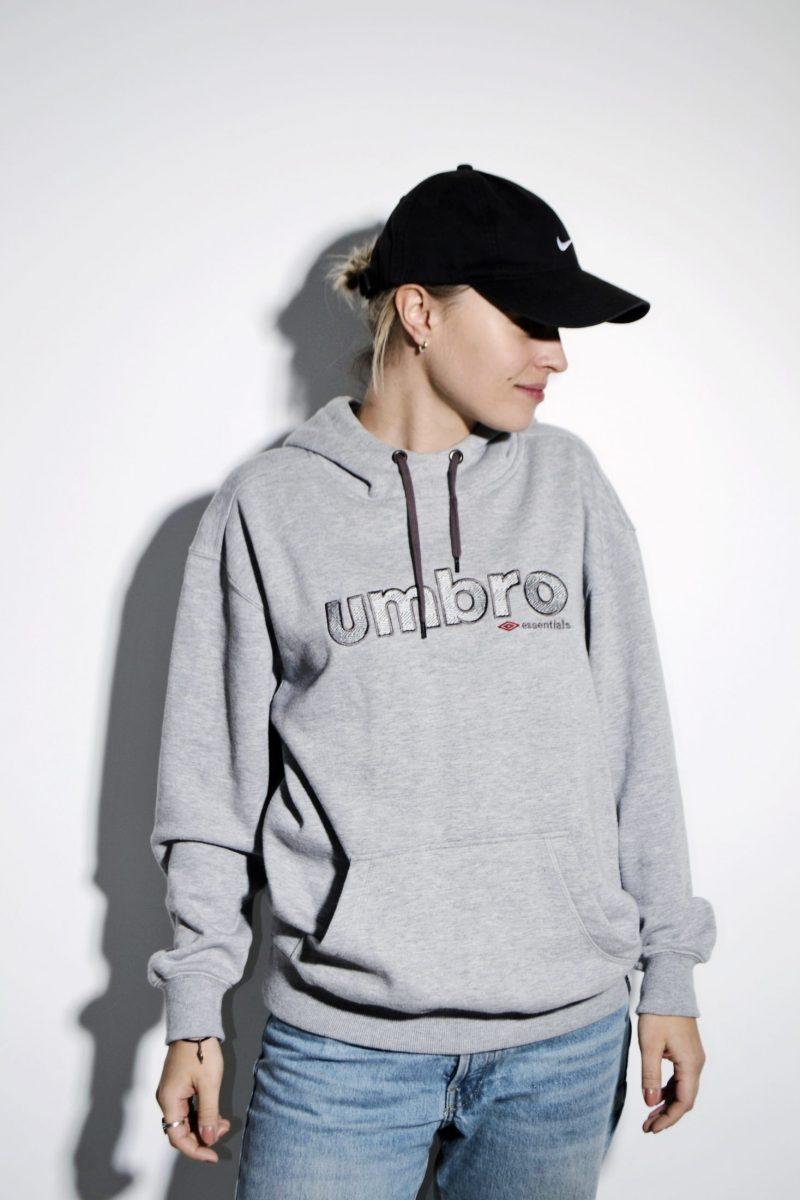UMBRO gray hoodie unisex