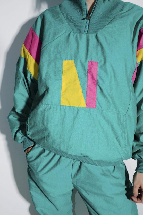 90s vintage wind suit women M