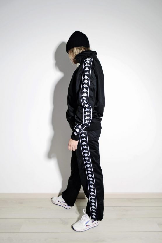 KAPPA 90s vintage tracksuit in black color