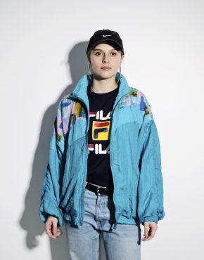 Vintage rave jacket blue L