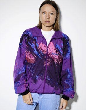90s retro windbreaker women shell jacket